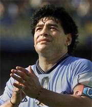 مارادونا، پا به توپ در زمین سینما