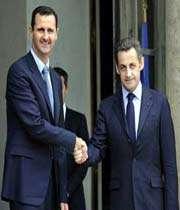 ساركوزي و بشار