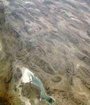 les monts zagros vus de l'espace, septembre 1992.