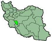 cette carte montre la position de la province de chahar mahal et bakhtiari