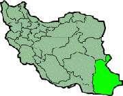 cette carte montre la position de la province de sistan et baluchestan