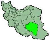 cette carte montre la position de la province de kerman