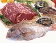ماهی و گوشت قرمز