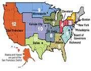 représentation des états des banques fédérales