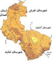 نقشه اراک