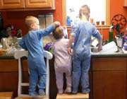kids washing
