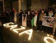 des palestiniens célèbrent la nouvelle année, à bethlehem, le 31 décembre