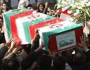 به خاک سپاری شهدا در دانشگاه امیر کبیر
