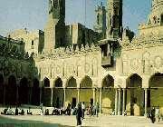 la mosquée d'al-azhar, vestige du califat fatimide