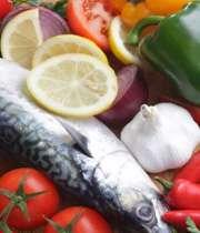 ماهی و سبزی و میوه