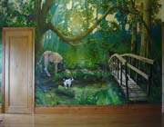 forest mural in private home, england