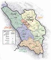 نقشه استان چهارمحال و بختیاری