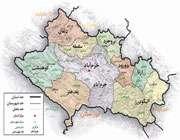 نقشه استان لرستان و برخی از شهرستان ها