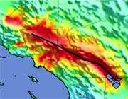 تصویر دمایی از منطقه وقوع زلزله