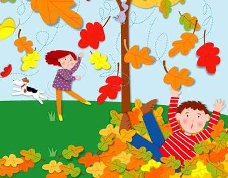 برگ درختان در فصل پاییز