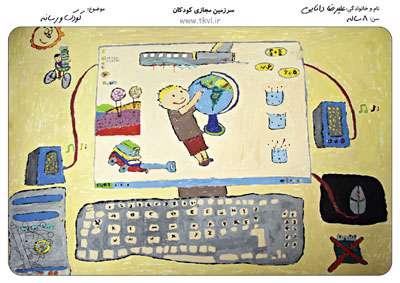 نقاشی های برگزیده مسابقه نقاشی کودک و رسانه - رده سنی 8 تا 14 سال