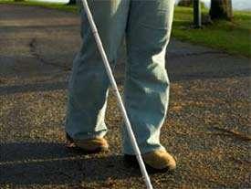 عصا، پا، نابینا، راه رفتن