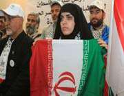 iranian activists accompanying asias first humanitarian aid convoy to gaza return home.