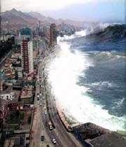 خشم موج دریا