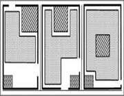 plan de trois formes de plateforme pour le naqq?li dans les maisons de café, montrant 3 types de scène (ronde, ouverte sur 2 ou 3 côtés) et l'emplacement des spectateurs.