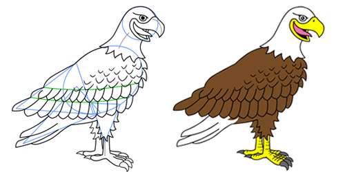 عکس عقاب کارتونی