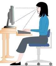 نشستن صحیح پشت میز کامپیوتر