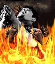 جهنم شیطان عذاب زنجیر فریاد