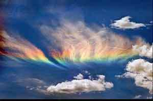 در رنگین کمان هفت رنگ وجود دارد.