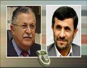 الرئيسان الايراني محمود احمدي نجاد والعراقي جلال طالباني