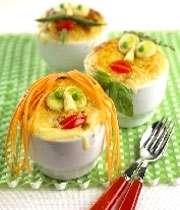 خوراک مرغ و سيب زميني