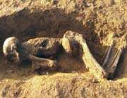 archeologists have found roman human remains in britain.