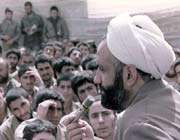 حجت الاسلام قرائتی در جبهه