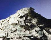 pile of money
