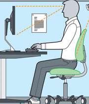 وضعیت صحیح بدن هنگام کار با کامپیوتر