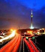 آلودگی نوری تهران در وضعیت قرمز