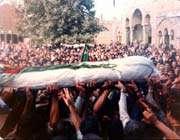 عجیب ترین تشییع برای شهید ایرانی
