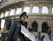 итальянская столица парализована сразу тремя крупными манифестациями протеста