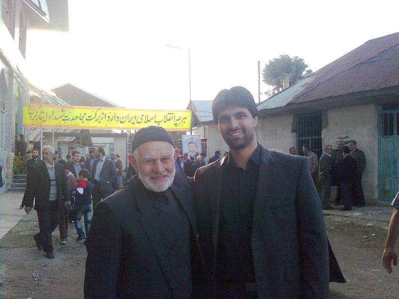 پدر و پسر حاج ابراهیم اصغریخواه و آقاسجادعزیز یادگارشهیداصغریخواه
