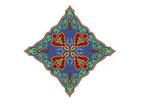پشتی طرح یزدی مبلی Иллюминированная рукопись