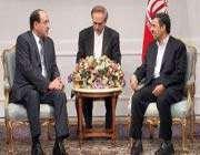 les présidents iranien et irakien