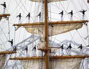 les membres de l'équipage du bateau le guayas