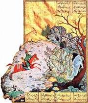 bahram-e gour tuant le dragon, behzad, hérat, xve siècle