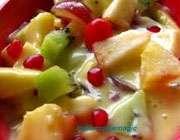 روش تهیهی سالاد میوه با سس کارامل