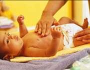 سوختگی پای کودک در اثر پوشک