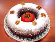 آشنایی با روش تهیهی کیک خرمالو