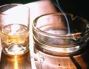 سیگار و الکل