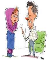 تذکر دادن به همسر
