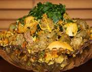 تهیه خوراک جگر با مرغ و جعفری