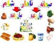 نام وعدههای غذایی در فارسی