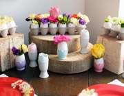 آموزش ساخت گلدان و شمع تخم مرغی